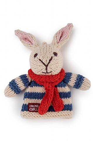 Rabbit Finger Puppet with Scarf