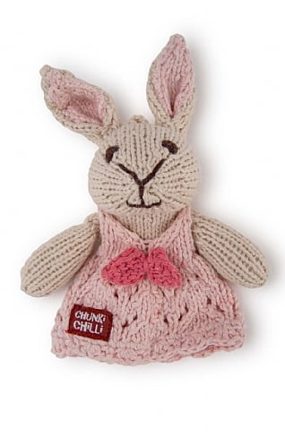Rabbit Finger Puppet in Dress
