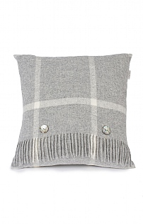 Merino Windowpane Cushion