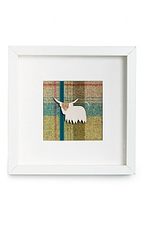 Framed Highland Cow Picture