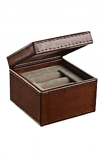 Leather Two Ring Box