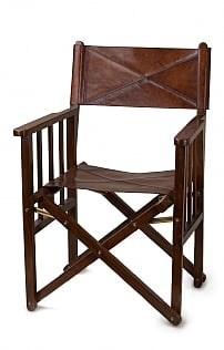 Leather Folding Director's Chair