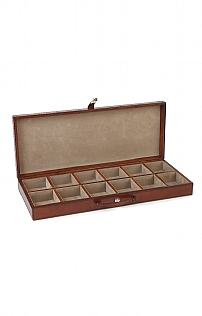 Leather Twelve Cufflink Case