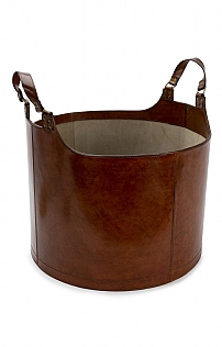 Round Leather Carry-All
