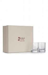 Burns Crystal Set Of 6 10oz Whisky Glasses