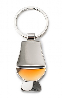 Burns Crystal Glass Keyring
