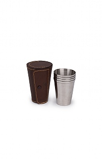 Set of 4 Stainless Steel Cups and Case
