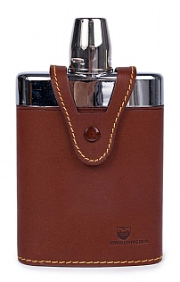 Traditional Leather Hip Flask