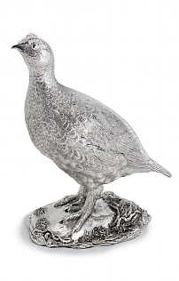 23cm Silver Grouse Centrepiece