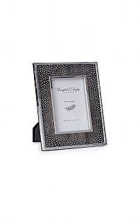 Silver Plated Real Feather 7x5in Photoframe
