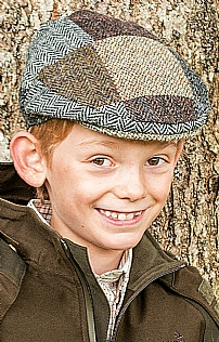 Child's Harris Tweed Patch Cap