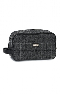 Harris Tweed Blue Check Washbag