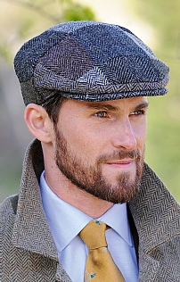 Men s Harris Tweed Patch Cap 531a4c95608