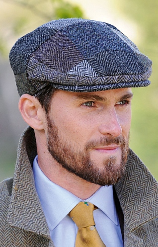 Harris Tweed Patch Cap
