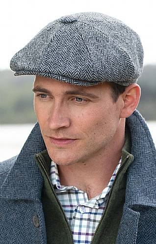 Harris Tweed Shelby Cap