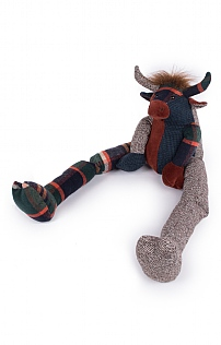 Patchwork Highland Cow Draught Excluder