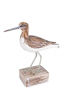 Hand Carved Sandpiper Block