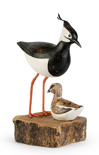 Hand Carved Lapwing