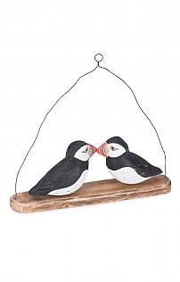Hand Carved Puffin Hanger