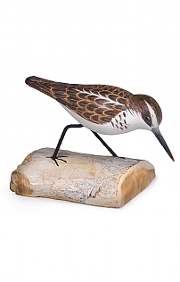 Hand Carved Little Stint Running