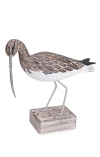 Hand Carved Curlew Walking