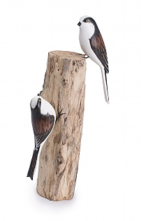 Hand Carved Long Tailed Tit