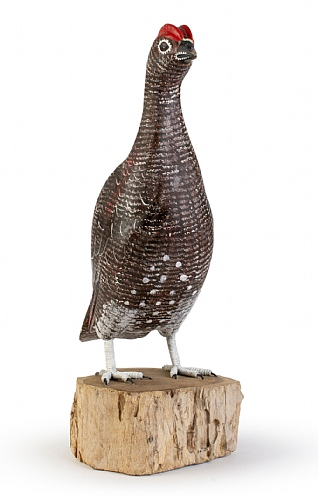 Hand Carved Male Grouse