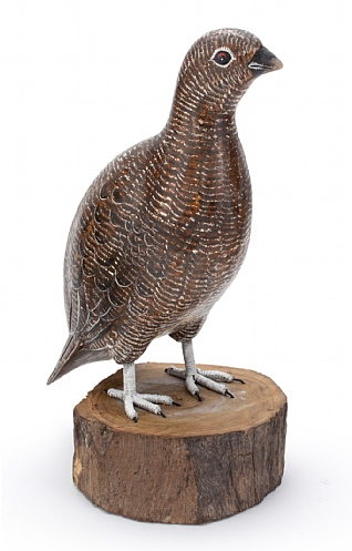 Hand Carved Female Grouse