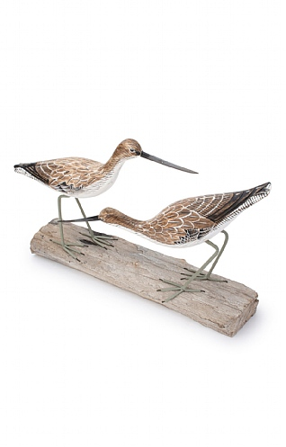 Hand Carved Greenshank Block