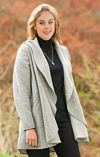 Wool Waterfall Coat