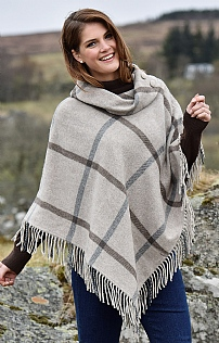 Wool Button Poncho