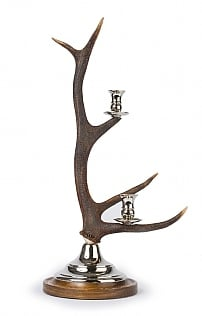 Antler and Silver Candelabra