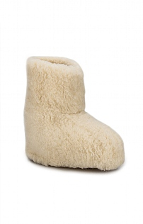 Ladies Pure New Wool Tall Slippers