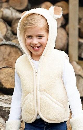 Child's Wool Gilet With Ears