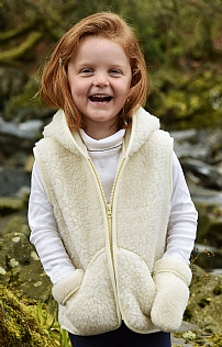Pure New Wool Child's Hooded Gilet