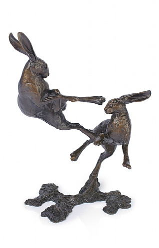 Boxing Hares, Medium by Michael Simpson