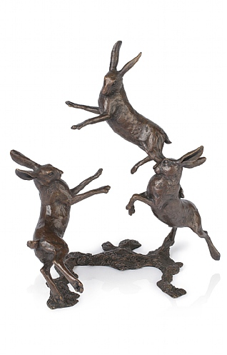 Playing Hares, Medium by Michael Simpson