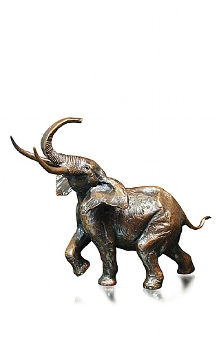 Medium Bull Elephant by Michael Simpson