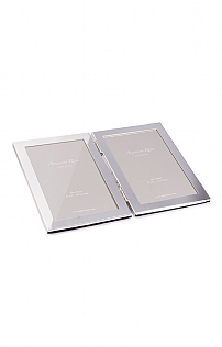 Silver Plated Double Photoframe 4x6in