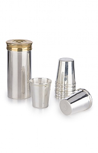 Set of 8 Silver Plated Cartridge Cups