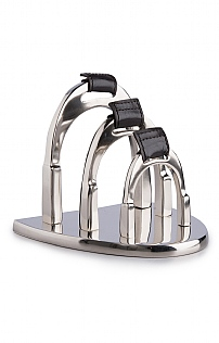 Nickel Plated Stirrup Letter Holder