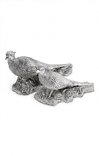 Pair of Silverware Pheasants Centrepiece