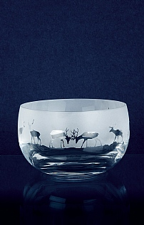 Large Crystal Glass Bowl
