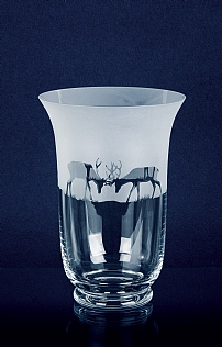 Engraved Crystal Glass Vase