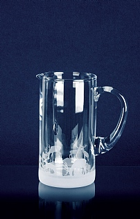 Engraved Crystal Glass Water Jug