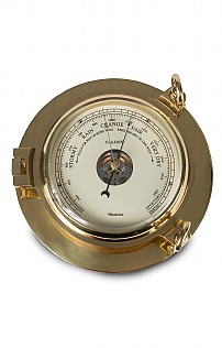 Wood & Brass Saloon Barometer