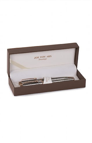 Ballpoint and Rollerball Pens in a Leather Box