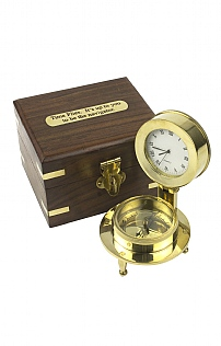 Boxed Compass and Clock Set