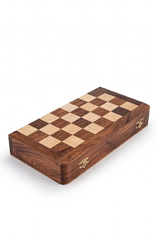 Folding Chess and Backgammon Set