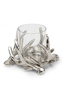 Small Antler Hurricane Lamp